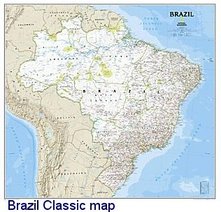 National Geographic Brazil map
