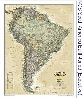 National Geographic South America Exec map