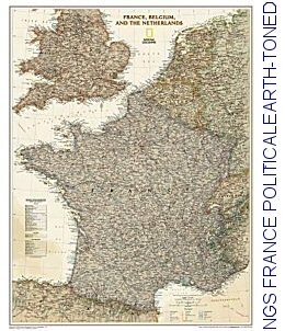National Geographic map containing France, Belgium, The Netherlands, Luxembourg