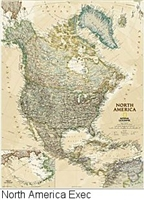 National Geographic North America Exec map