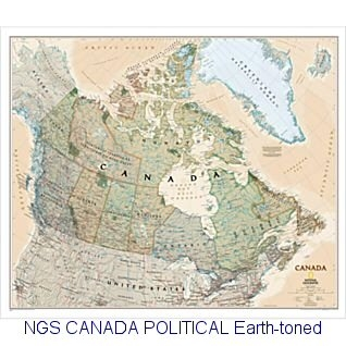 National Geographic Canada Political map