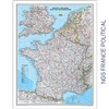 National Geographic map of France, Belgium, The Netherlands, Luxembourg