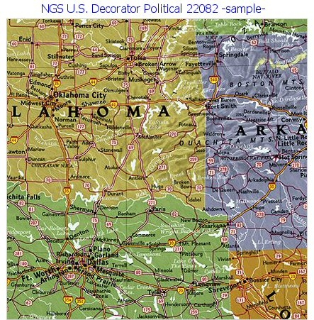 National Geographic Us Decorator Political 70x48 - National-geographic-us-map