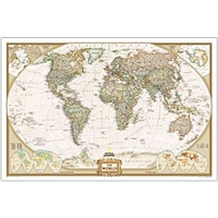 National Geographic Executive World Map