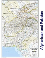 National Geographic Afghanistan and Pakistan political map