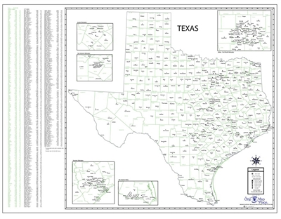 Texas County Town Map