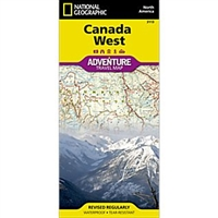 Canada fold map national geographic adventure map