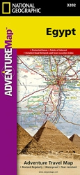 Egypt fold map national geographic adventure map