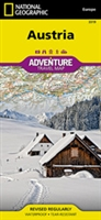 Austria fold map national geographic adventure map