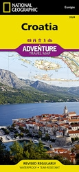 Croatia fold map national geographic adventure map