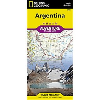 Argentina fold map national geographic adventure map