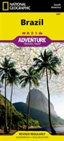 Brazil fold map national geographic adventure map