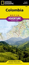 Colombia fold map national geographic adventure map