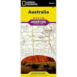 Australia fold map national geographic adventure map