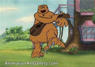 Production Cel with Matching Drawing of Big Paw from The Berenstain Bears' Meet Bigpaw