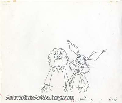 Production Drawing of Brother Bear and the Easter Bunny from The Berenstain Bears' Easter Surprise