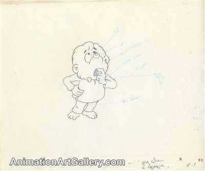 Production Drawing of Brother Bear from The Berenstain Bears' Easter Surprise