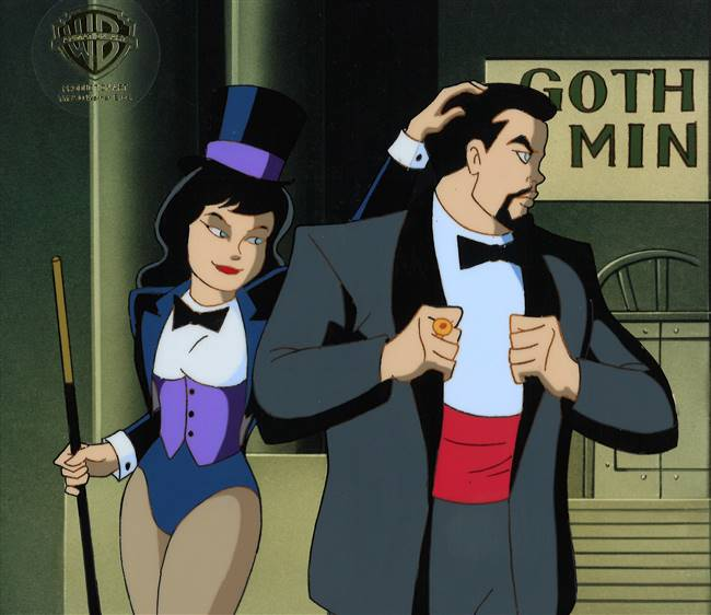 Original Production Cel of Zatanna from Batman the Animated Series