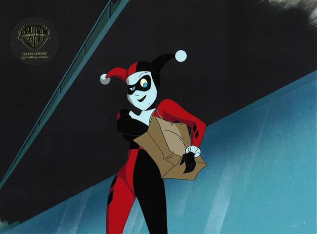 Original Production Cel of Harley Quinn from New Batman Adventures