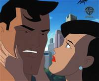 Original Production Cel of Superman and Lois Lane from Superman: The Animated Series