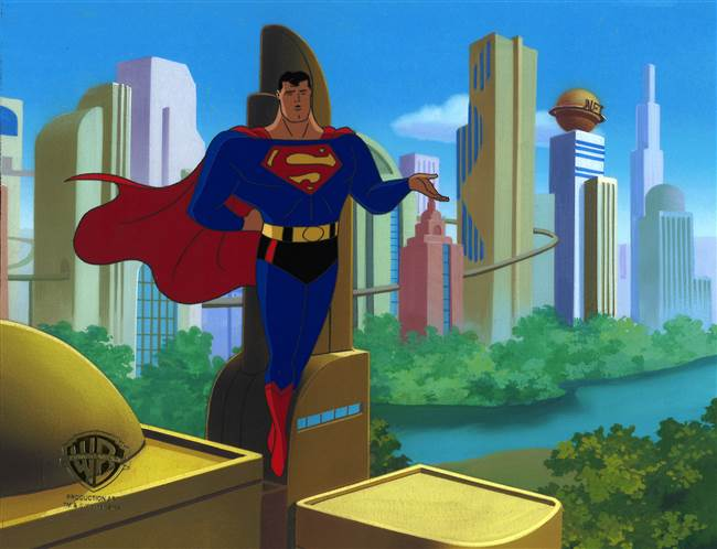 Original Production Cel of Superman from Superman: The Animated Series