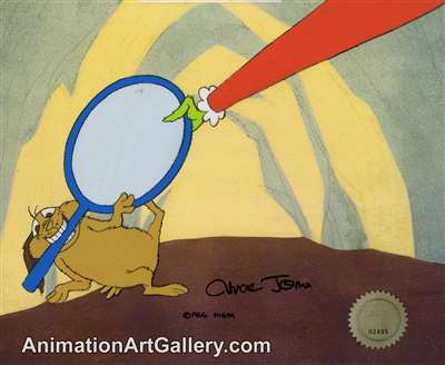 Production Cel of Max and the Grinch from How The Grinch Stole Christmas
