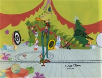 Production Cel of some Whos from How The Grinch Stole Christmas