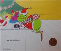 Production Cel of the Grinch from How The Grinch Stole Christmas