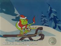 Production Cel of the Grinch and Max from How The Grinch Stole Christmas
