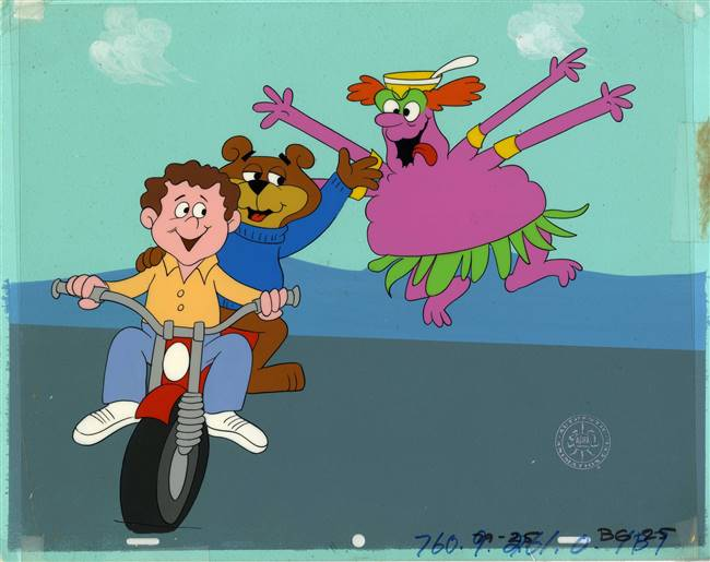 Original Production Cel and Production Background of Sugar Bear from a Sugar Crisp Cereal Commercial
