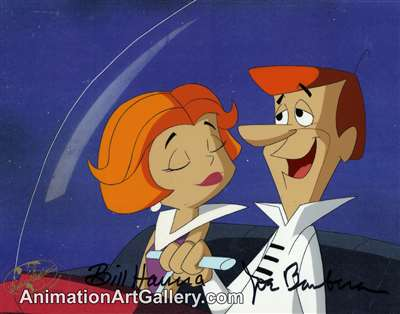 Production Cel of George Jetson and Jane Jetson from The Jetsons Movie