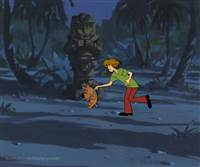 Original Production Cel of Shaggy and Scrappy from Scooby and Scrappy Doo
