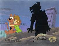 Original Production Cel of Scooby Doo and Shaggy from A Pup Named Scooby Doo