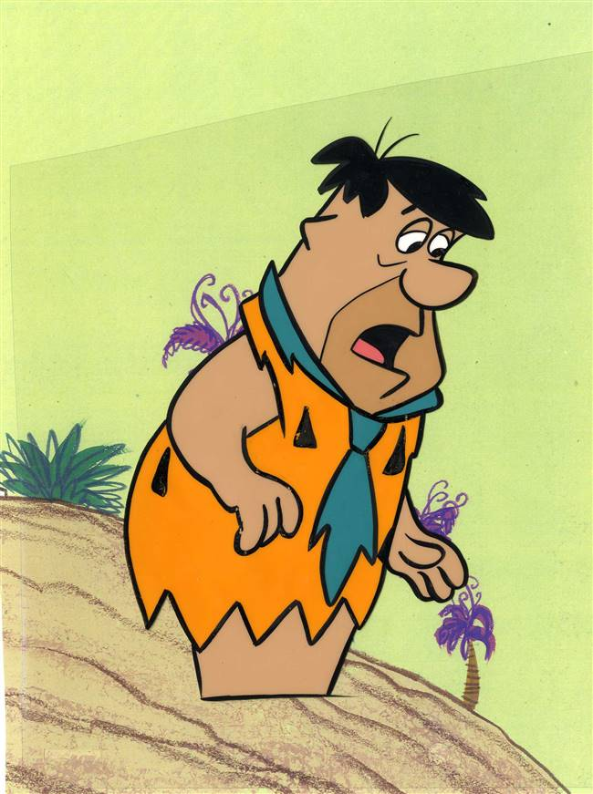 Original Production Cel of Fred Flintstone from the Flintstones