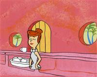 Original Production Cel of Wilma Flintstone from the Flintstones