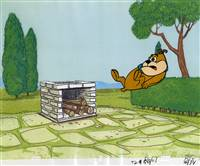 Original Production Cel of a dog from Hanna Barbera (1960s)