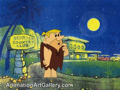 Production Cel of Barney Rubble from The Flintstones (c.1980s)