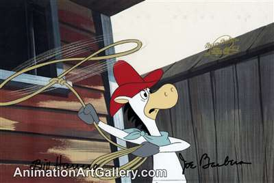 Production Cel of Quick Draw McGraw from Yogi's Great Escape