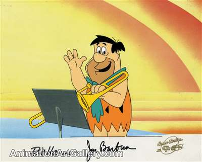 Production Cel of Fred Flintstone from Hanna-Barbera (c.1980s)