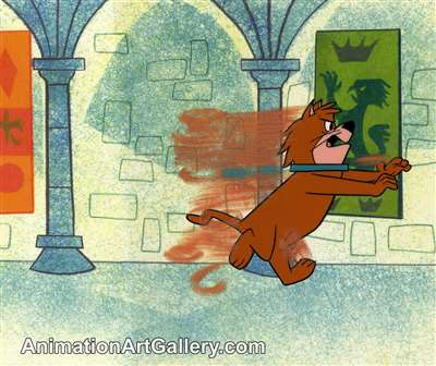 Production Cel of a cat from Hanna-Barbera (c.1970s)