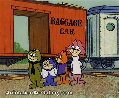 Production Cel of Spook and Choo-Choo from Top Cat Cartoon Series