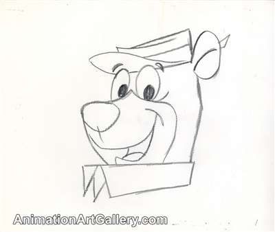 Concept Piece of Yogi Bear from  The New Yogi Bear Show (1988 -1989)