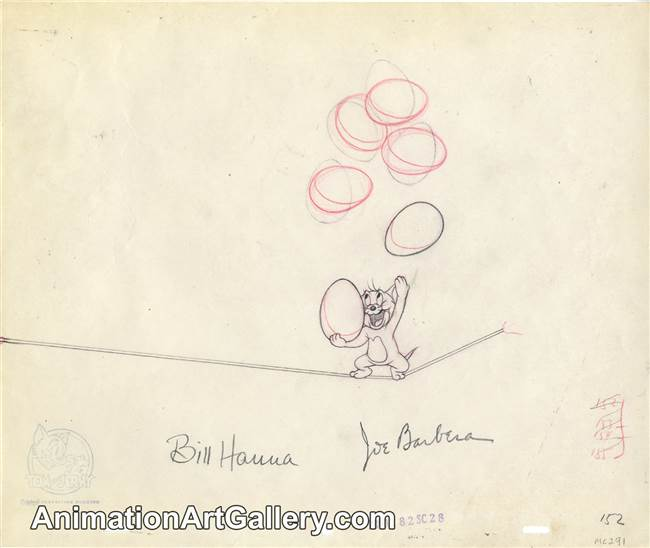Production Drawing of Jerry  from Mouse Cleaning