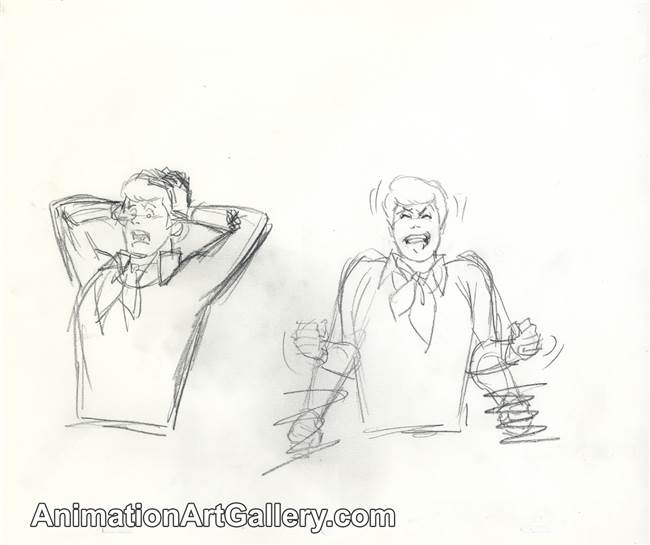 Publicity Drawing of Fred Jones from Scooby Doo from Scooby Doo (1990s)