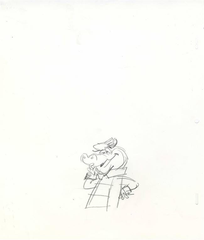 Publicity Drawing of Wally Gator from Hanna Barbera