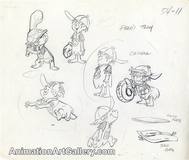 Character Study from The Flintstones