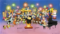 """Symphony of the Stars"" Flintstones, Jetsons, Scooby-Doo, and More Signed Limited Edition Cel"