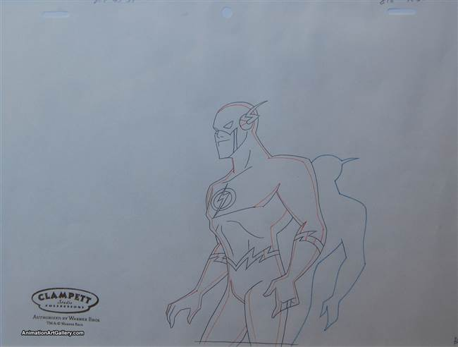 Production Drawing of the Flash from Warner Bros (c. 2000s)
