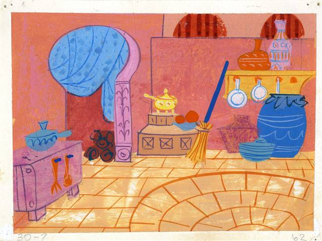 Original Color Key from 1001 Arabian Nights with Mr Magoo (1959)