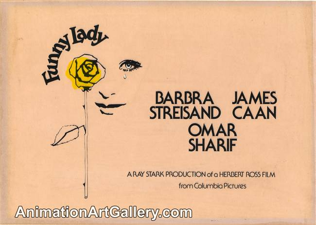 Publicity Cel of Barbra Streisand from Funny Lady